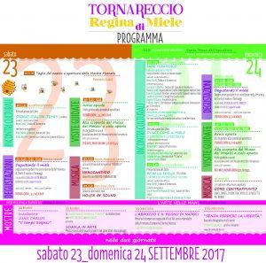 Tornareccio-Regina di Miele - Programma - Eventi per famiglie in Abruzzo