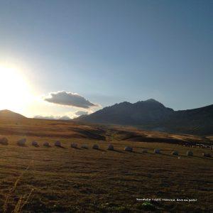 Fonte Vetica al tramonto vicino Santo Stefano di Sessanio