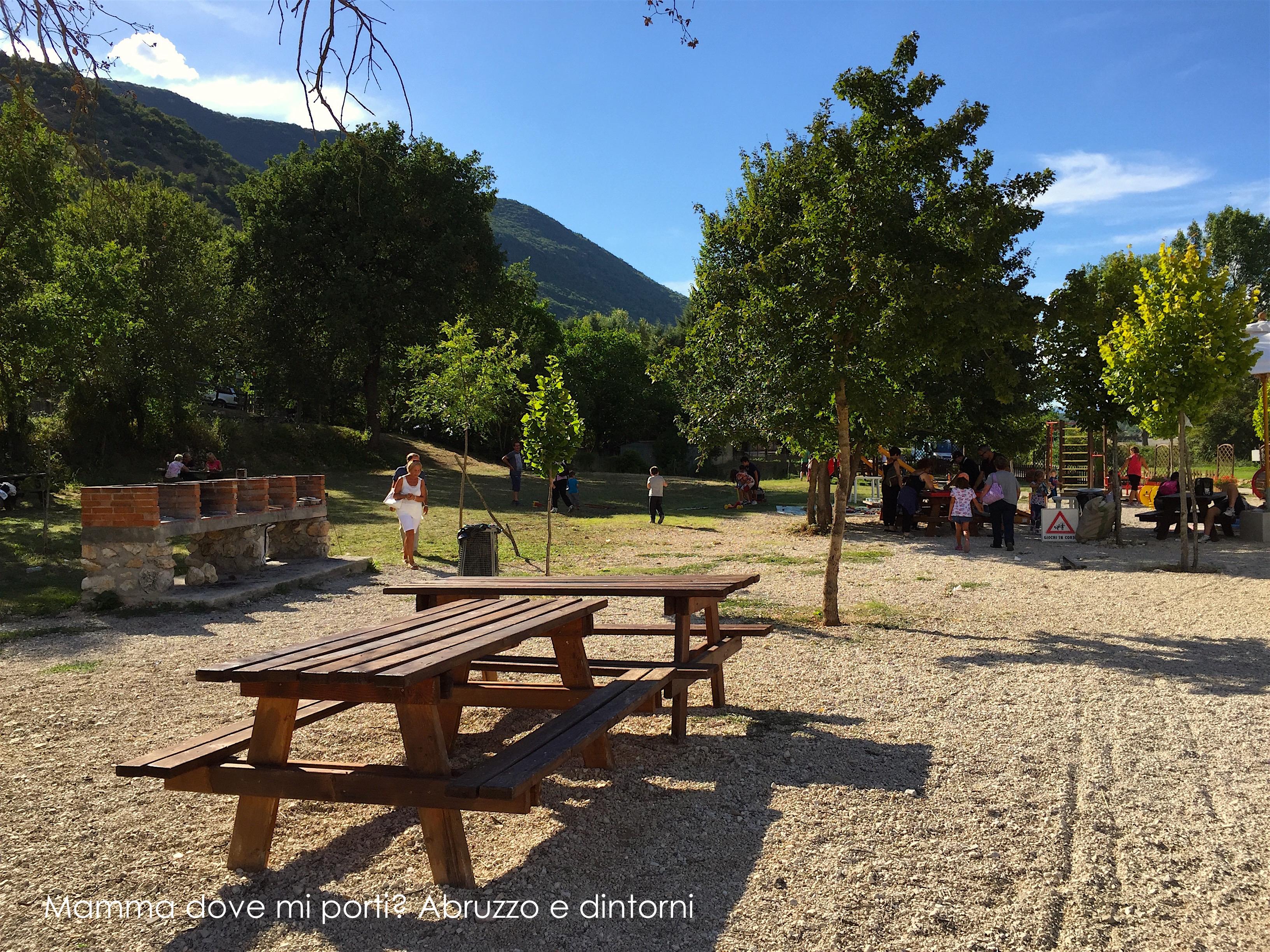 Grotte di Stiffe - Area barbecue - San Demetrio ne' Vestini (AQ)