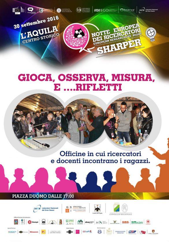 Notte Europea dei Ricercatori – Sharper 2016 in centro storico a L'Aquila | Mamma dove mi porti? Abruzzo e dintorni