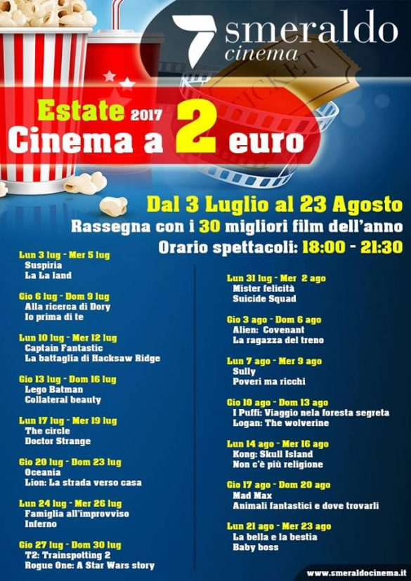 Cinema Smeraldo eventi estate 2017 - Mamma dove mi porti?