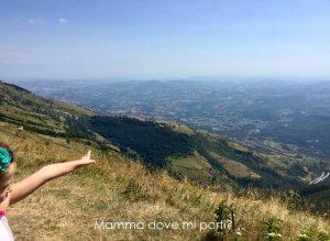 Panorama-radura inizio sentiero Grande Croce Prati di Tivo