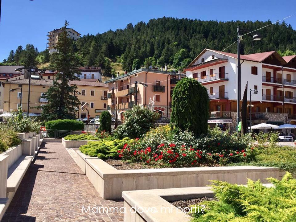Roccaraso centro giardini PiazzaMunicipio - Montagna con bambini Abruzzo