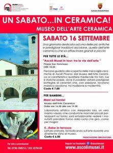 Un sabato in ceramica Museo dell'Arte Ceramica - Ascoli Piceno