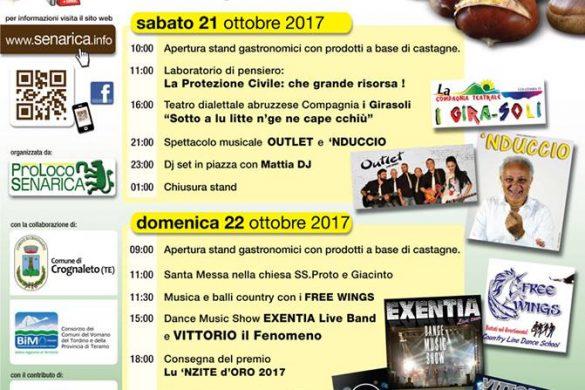 12^ Festa della Castagna - Senarica Teramo - Feste d'Autunno in Abruzzo