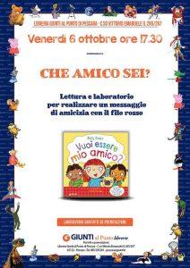 Che Amico 6? Laboratorio Libreria Giunti al Punto - Pescara - Eventi per famiglie