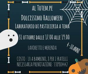 Laboratorio di Pasticceria - Halloween - Nido Totem Pe - Pescara