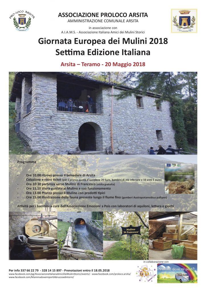 Arsita (Te) - Mulino del Fino - Visita 20 maggio 2018