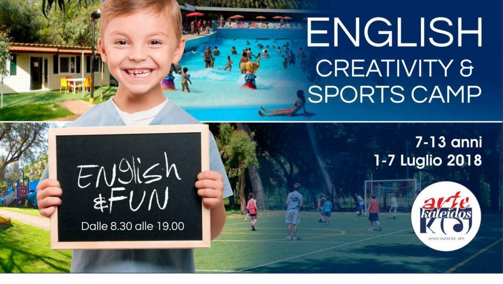 English Creativity & Sports Camp - Campo Estivo di Artekaleidos Lab