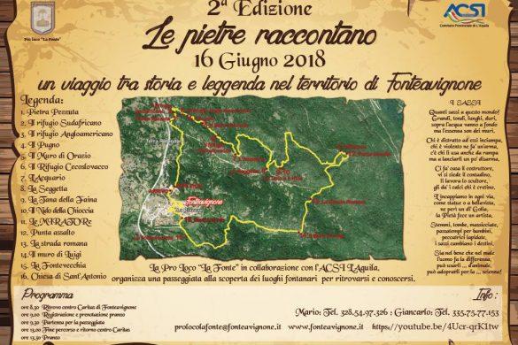 Le Pietre raccontano - Fontavignone - L'Aquila