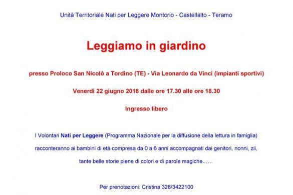 Leggiamo in Giardino - Nati per Leggere - San Nicolò a Tordino - Teramo