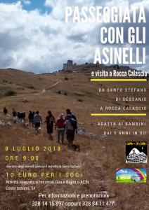 Passeggiata con gli asinelli - Santo Stefano di Sessanio - L'Aquila