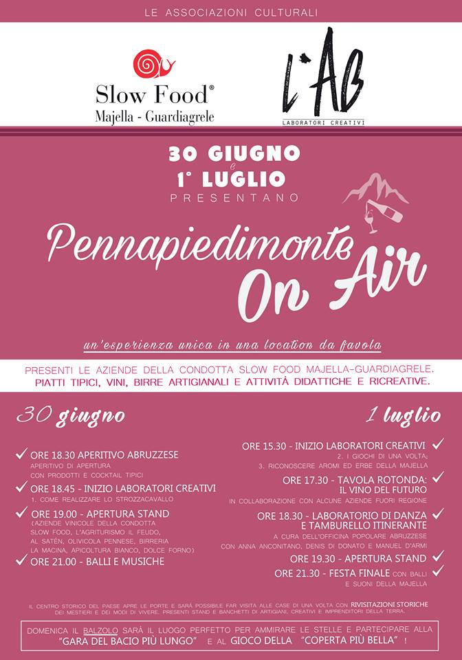 Pennapiedimonte On Air - Programma - Pennapiedimonte - Chieti