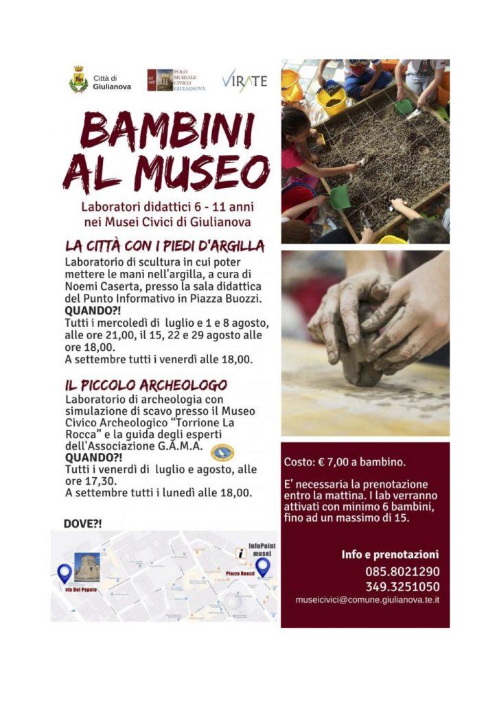 Bambini al Museo Giulianova TE- Eventi per famiglie Abruzzo