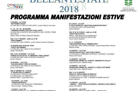 CALENDARIO EVENTI 2018 con integrazioni - Bellante - Teramo