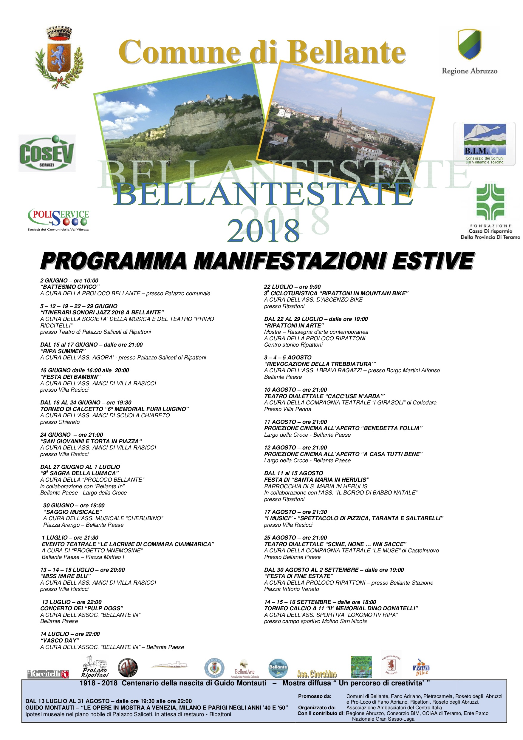 Calendario Pizzica.Calendario Eventi 2018 Con Integrazioni Bellante Teramo