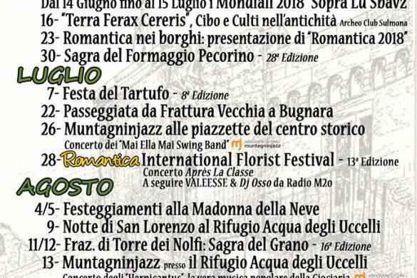 Eventi estate 2018 - Bugnara - L'Aquila