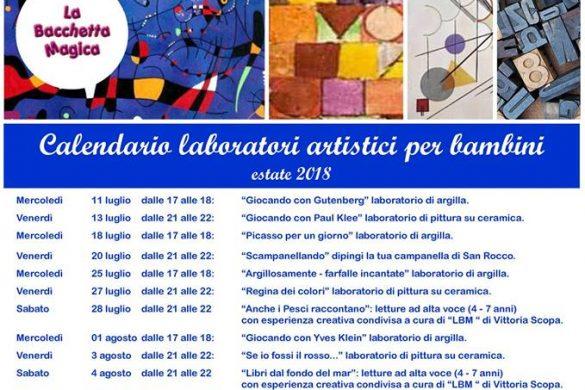 Laboratori-Artistici per Bambini - Estate 2018 - Creta Rossa - Vasto - Chieti