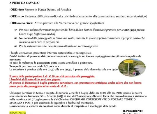 Passeggiata con Gioia a Piedi o a Cavallo - Arischia - L'Aquila