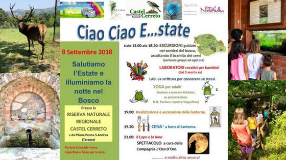 Ciao Ciao E-state - Castel Cerreto Teramo - Eventi per famiglie Abruzzo