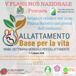 "Flash Mob Allattamento ""Base per la Vita"" Pescara"