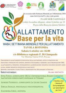 Tavola Rotonda e Flash Mob Allattamento Pescara