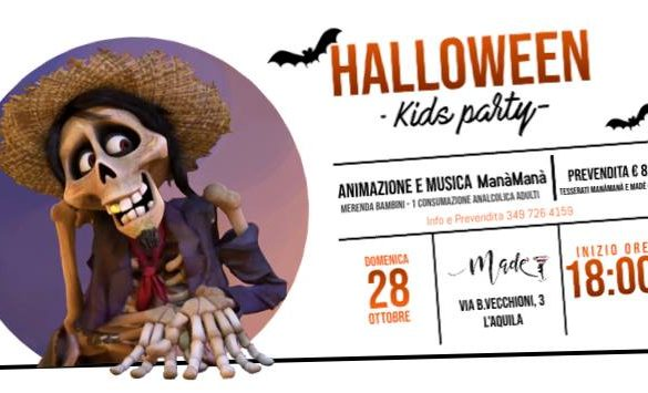 Festa-Halloween-ManàManà-LAquila- Halloween 2018 per bambini in Abruzzo