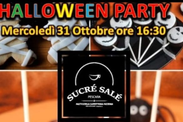 Festa-Halloween-Pasticceria-Caffetteria-Pizzeria-Sucrè-Salè-Pescara- Halloween 2018 per bambini in Abruzzo