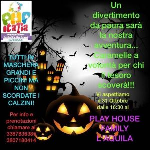 Festa-Halloween-Play-House-Family-LAquila- Halloween 2018 per bambini in Abruzzo