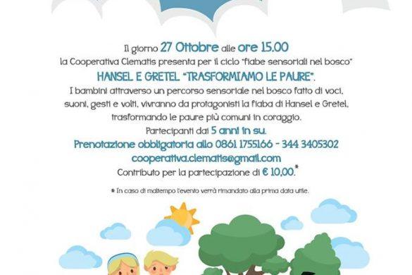 Fiabe-Sensoriali-Hensel-e-Gretl-Parco-Avventura-Martinsicuro-TE- Eventi per bambini Teramo