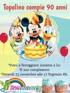 Auguri-Topolino-Fiestamania-Park- Eventi per bambini Teramo