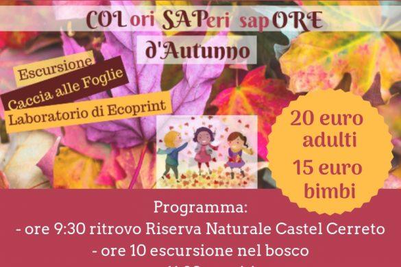 Colori-Saperi-Sapore-D'autunno-Riserva-Naturale-Castel-Cerreto-Penne-Sant'Andrea - Eventi per bambini Teramo