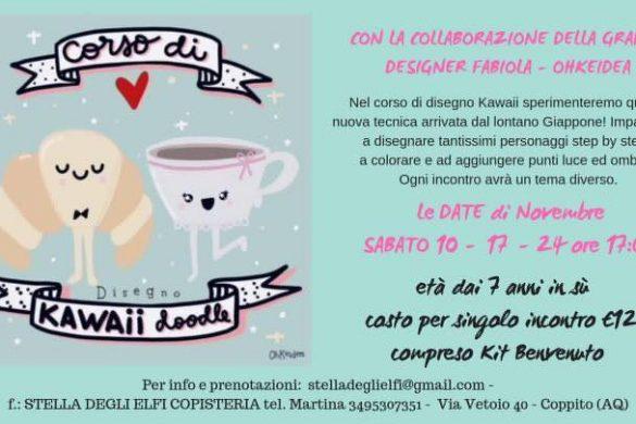 Corso-di-Kawaii-Stella-degli-Elfi-Copisteria-Coppito-AQ- Eventi per bambini L'Aquila