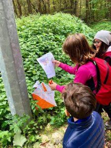 Vidimazione mappa durante Caccia al Tesoro - Cosa fare con i bambini a Pietracamela