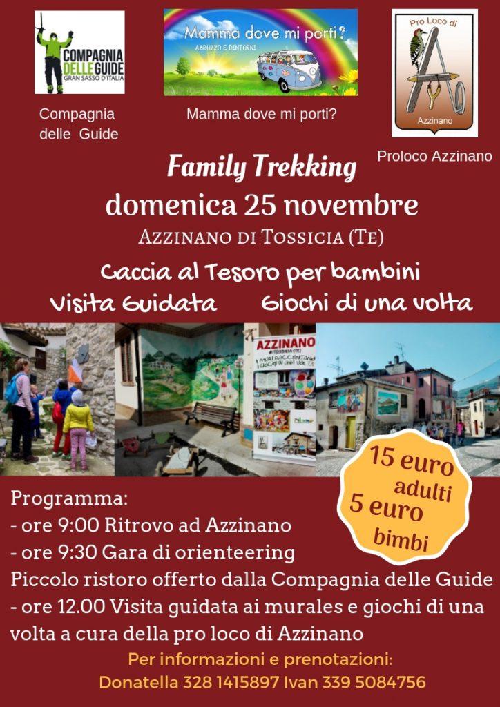 Family Trekking con Caccia al Tesoro, Visita Guidata e Giochi di una Volta ad Azzinano di Tossicia (TE)