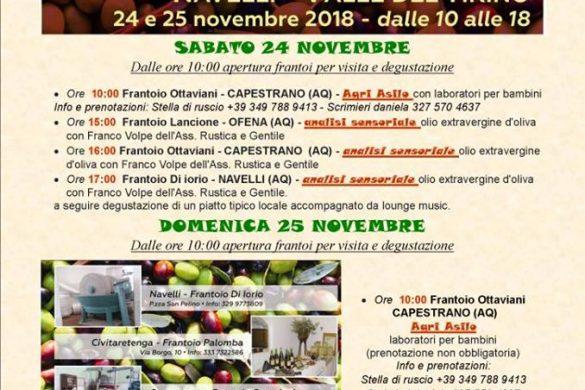 Frantoi-Aperti-Capestrano-AQ- Feste d'autunno in Abruzzo