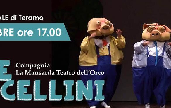 I-tre-porcellini-Spettacolo-Teatro- Eventi per bambini Teramo