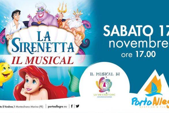 La-Sirenetta-Il-Musical-Porto-Alegro-Montesilvano- Eventi per bambini Pescara