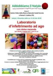 Laboratorio-di-infeltriment-ad-ago-Riserva-Castel-Cerreto-Penna-SantAndrea-TE- Cosa fare a Natale con i bambini in Abruzzo