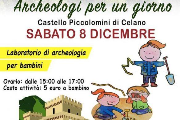 Archeologi-per-un-giorno-Castello-Piccolomini-Celano-L'Aquila - Eventi per bambini in Abruzzo weekend 7 - 9 dicembre