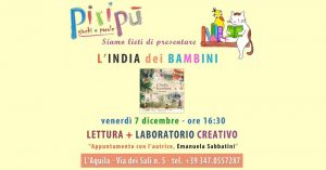 Lettura-e-laboratorio-Piripù-LAquila - Eventi per bambini in Abruzzo weekend 7 - 9 dicembre