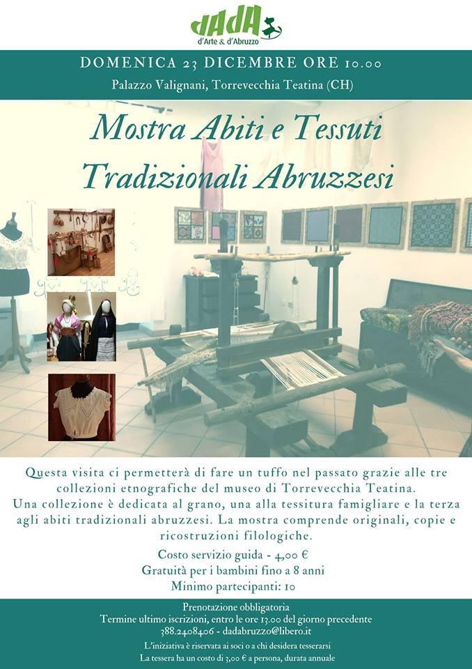 Mostra Abiti e Tessuti tradizionali abruzzesi Palazzo Valignani - Torrevecchia Teatina - Chieti - Eventi DADAbruzzo