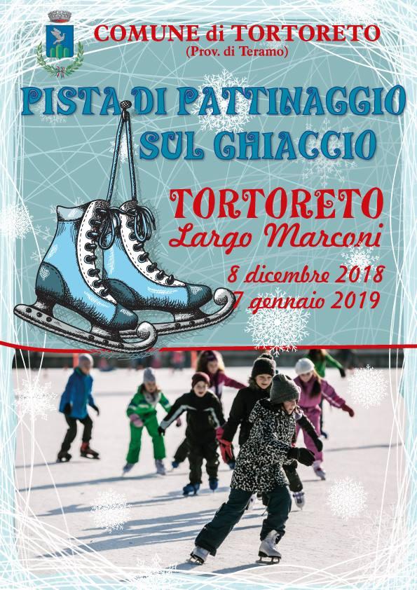 Piste di pattinaggio su ghiaccio in Abruzzo Natale 2018 - Tortoreto-Teramo