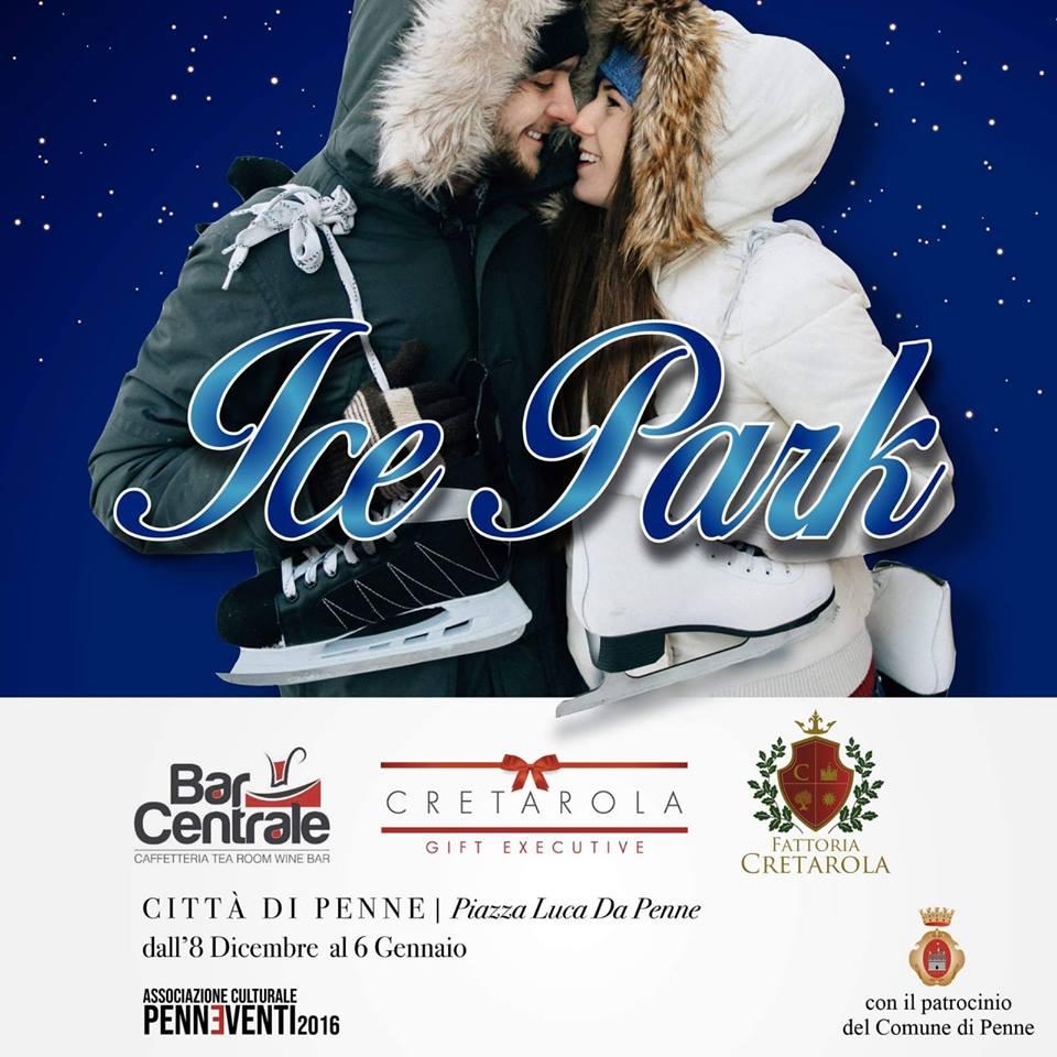 Piste di pattinaggio su ghiaccio in Abruzzo Natale 2018 - Penne - Pescara