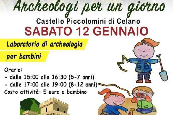 Archeologi-per-un-giorno-Castello-Piccolomini-Celano-L'Aquila - Eventi per bambini in Abruzzo weekend 12 - 13 gennaio