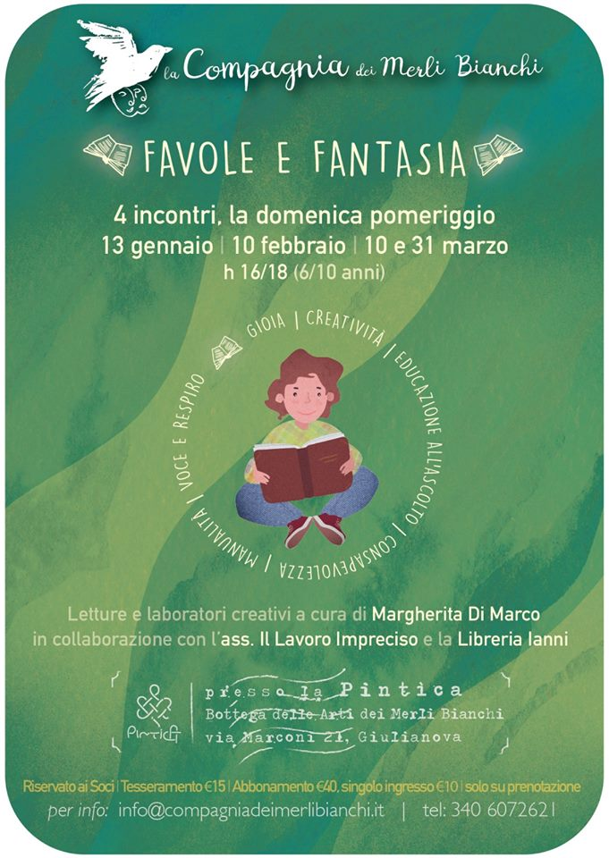 Favole e Fantasia - Compagnia dei Merli Bianchi - Letture, laboratori creativi e yoga per bambini