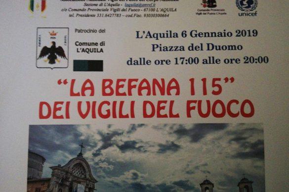 La-Befana-115-dei-Vigli-del-Fuoco-L'Aquila - Befana 2019 in Abruzzo