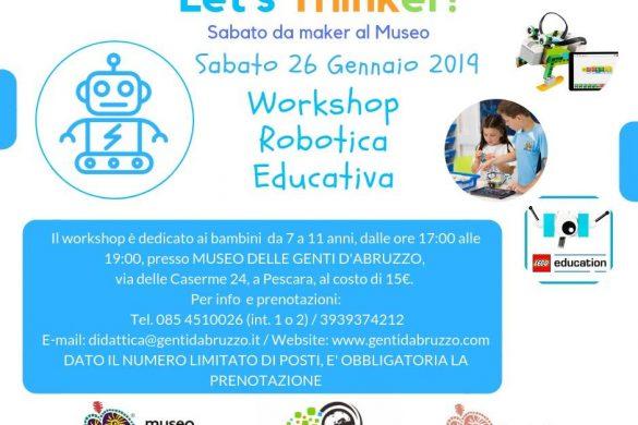 Laboratorio-Robotica-Educativa-Museo-delle-Genti-dAbruzzo-Pescara - Eventi per bambini in Abruzzo weekend 25-27 gennaio 2019