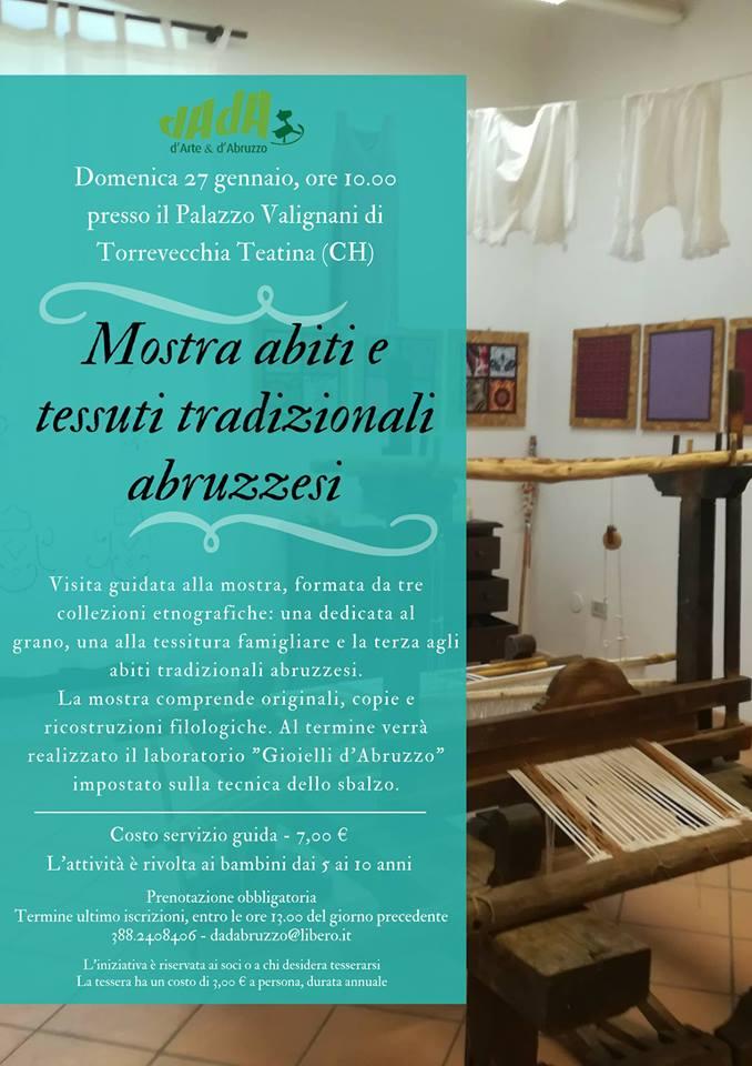 Mostra abiti e tessuti tradizionali abruzzesi e laboratorio per bambini DADAbruzzo