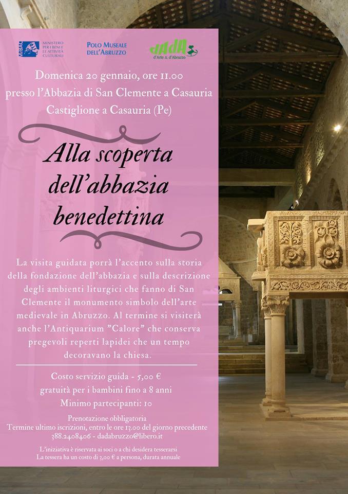 Visita abbazia benedettina DADAbruzzo